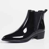 Jeffrey Campbell Plain PVC Clothing Mid Heel Boots
