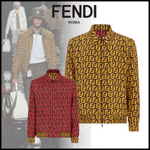 FENDI Short Monogram Street Style Jackets
