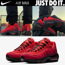 Nike AIR MAX 95 Faux Fur Street Style Plain Sneakers