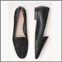 Massimo Dutti Round Toe Casual Style Other Animal Patterns Leather