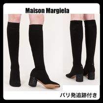 Maison Martin Margiela Tabi Plain Block Heels Elegant Style Over-the-Knee Boots