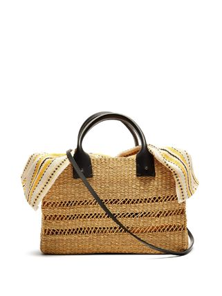 Canvas 2WAY Straw Bags
