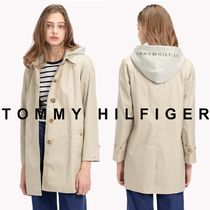 Tommy Hilfiger Casual Style Unisex Blended Fabrics Street Style Plain