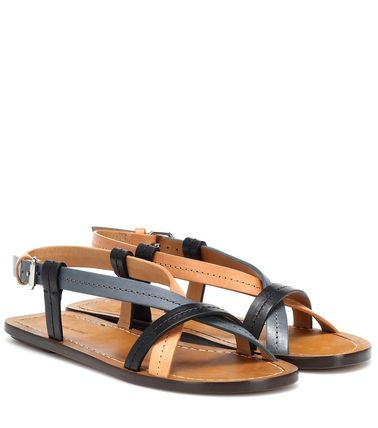 Open Toe Leather Elegant Style Sandals Sandal