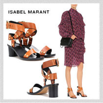 Isabel Marant Open Toe Casual Style Leather Sandals Sandal