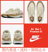 Nike AIR MAX 1 Casual Style Blended Fabrics Street Style Leather