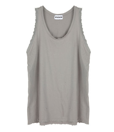 Tanks Unisex Street Style Plain Cotton Oversized Tanks 2
