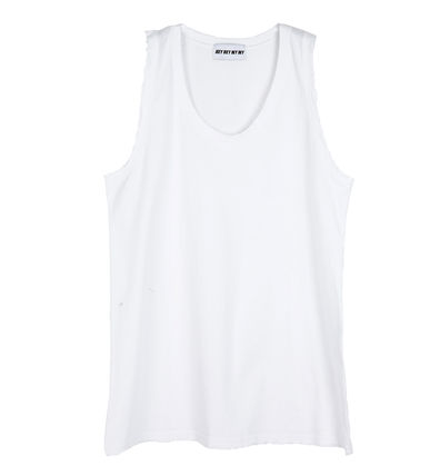 Tanks Unisex Street Style Plain Cotton Oversized Tanks 3