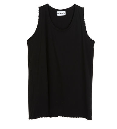Tanks Unisex Street Style Plain Cotton Oversized Tanks 5