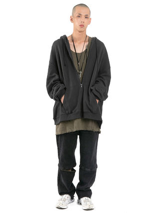 Tanks Unisex Street Style Plain Cotton Oversized Tanks 7