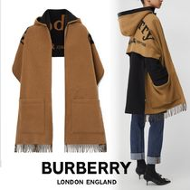 Burberry Cashmere Street Style Fringes Heavy Scarves & Shawls
