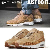 Nike AIR MAX 90 Unisex Blended Fabrics Street Style Other Animal Patterns