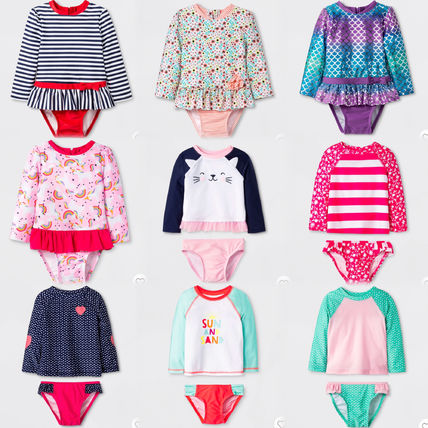 Blended Fabrics Kids Girl Swimwear