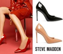 Steve Madden Enamel Plain Pin Heels Party Style Pointed Toe Pumps & Mules