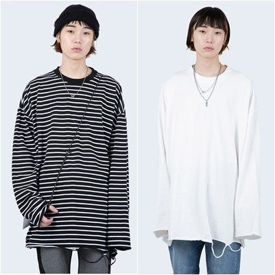 Raucohouse Long Sleeve Pullovers Unisex Long Sleeves Cotton Oversized