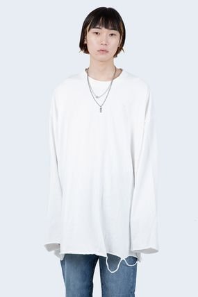 Raucohouse Long Sleeve Pullovers Unisex Long Sleeves Cotton Oversized 7