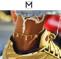 THE M JEWELERS Casual Style Initial Silver Anklets