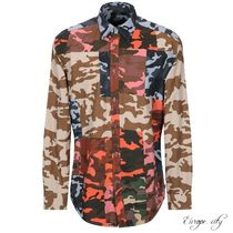 DIESEL Camouflage Long Sleeves Cotton Shirts