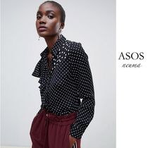 ASOS Dots Casual Style Street Style Long Sleeves Shirts & Blouses