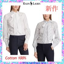 Ralph Lauren Other Check Patterns Puffed Sleeves Plain Cotton Medium