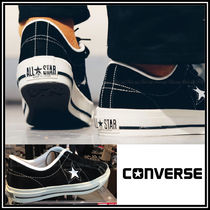 CONVERSE ONE STAR Star Plain Toe Casual Style Unisex Suede Low-Top Sneakers