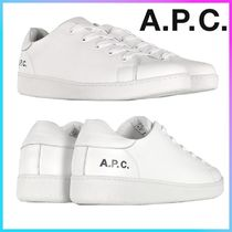 A.P.C. Plain Leather Sneakers