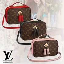 Louis Vuitton MONOGRAM Monogram Tassel 2WAY Bi-color Leather Shoulder Bags