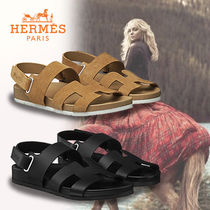 HERMES Casual Style Suede Sandals