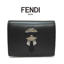 FENDI Unisex Leather Folding Wallets