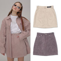 SCULPTOR Pencil Skirts Short Street Style Plain Cotton Skirts