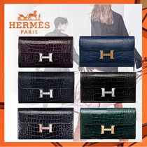 HERMES CONSTANCE Other Animal Patterns Long Wallets