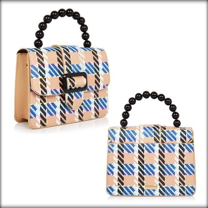 Other Check Patterns Casual Style 2WAY Shoulder Bags