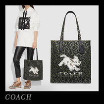 Coach Unisex Canvas Collaboration A4 Office Style Totes