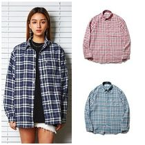 SAINTPAIN Other Check Patterns Unisex Street Style Long Sleeves Cotton
