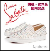 Christian Louboutin ROLLER BOAT Platform Casual Style Studded Plain Lace-Up Shoes