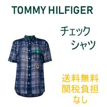 Tommy Hilfiger Casual Style Silk Medium Short Sleeves Shirts & Blouses