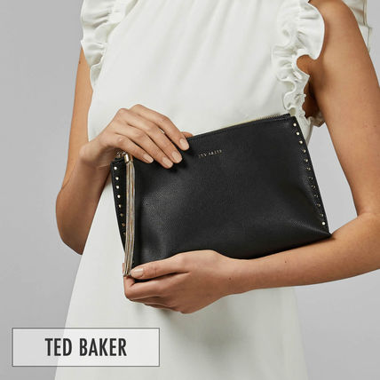 01bc7e4e0 ... TED BAKER Shoulder Bags 2WAY Plain Leather Elegant Style Shoulder Bags  ...