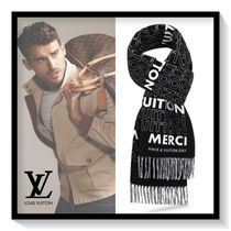Louis Vuitton Monogram Unisex Wool Scarves