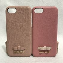 MiuMiu Leather Smart Phone Cases