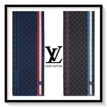 Louis Vuitton Stripes Unisex Wool Scarves