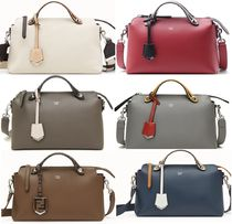 FENDI BY THE WAY 2WAY Plain Leather Handbags