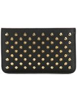 Christian Louboutin Unisex Studded Street Style Bag in Bag Leather Clutches