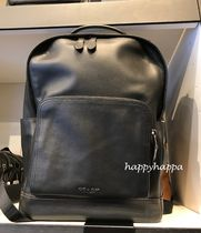 Coach Unisex A4 Leather Backpacks