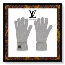 Louis Vuitton Unisex Cashmere Plain Gloves Gloves