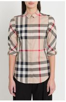 Burberry Other Check Patterns Elegant Style Shirts & Blouses