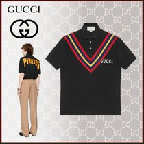 GUCCI Stripes Unisex Blended Fabrics Street Style Cotton