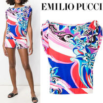 Emilio Pucci Casual Style Medium Short Sleeves Shirts & Blouses