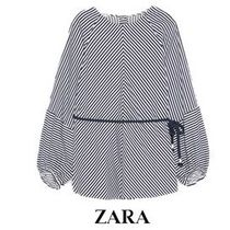 ZARA Stripes Long Sleeves Medium Office Style Shirts & Blouses