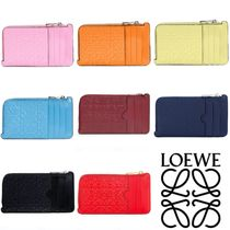 LOEWE Monogram Calfskin Small Wallet Coin Cases