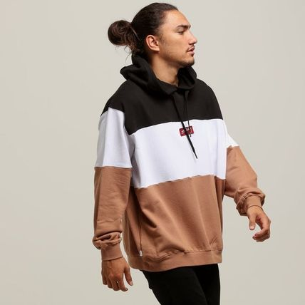STUSSY Hoodies Pullovers Street Style Long Sleeves Plain Cotton Oversized 7
